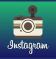 instagram logo background image vector image