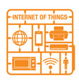 internet of things vector image vector image