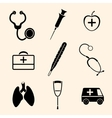 isolated medical icons vector image