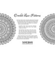 lace crochet patterns background vector image vector image