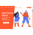 landing page emotional abuse concept vector image