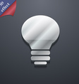Light lamp Idea icon symbol 3D style Trendy modern vector image vector image