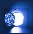 light open door safe blue vector image vector image