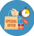 Limited time special offer concept Flat design vector image