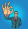 man ok gesture vector image vector image