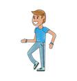 man walking cartoon vector image