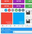 Material design kit vector image vector image