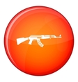 Military rifle icon flat style vector image vector image