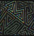 neon maze geometric seamless pattern vector image vector image