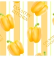 Orange bell pepper vector image vector image