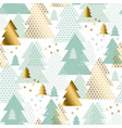 pastel tender christmas tree seamless pattern vector image vector image