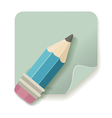 pencil retro icon vector image vector image
