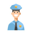 police flat vector image vector image