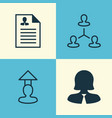 resources icons set collection of hierarchy vector image vector image