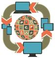 Responsive Web Design Template vector image vector image
