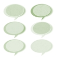 Retro speech bubbles set with copy space EPS 8 vector image vector image