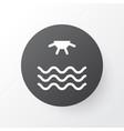 sea icon symbol premium quality isolated sunrise vector image vector image