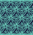 seamless pattern design with hexagonal lace motif vector image