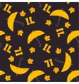 Seamless pattern of yellow autumn vector image vector image