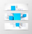 Set of header banner dynamic geometric design vector image vector image