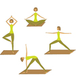 Set of stylized yoga poses vector image vector image