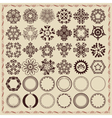 Set of vintage design elements and frames vector image