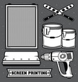 set screen printing icon vector image