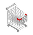 shop cart icon isometric style vector image vector image