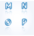 sketch jagged alphabet letters M N O P vector image vector image