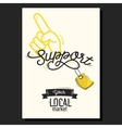 Support Your Local Market Motivational Poster vector image vector image