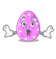 surprised eggs easter holiday character for vector image
