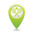 tennis GREEN map pointer vector image vector image