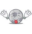 tongue out football character cartoon style vector image vector image