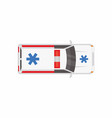 top view of an ambulance vector image vector image