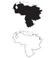 venezuela country map black silhouette vector image