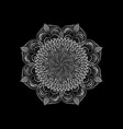 white round lace napkin decorative mandala plant vector image vector image