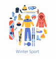winter sports accessories vector image vector image