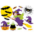 Witch - Halloween Set vector image vector image