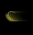 yellow car wheel track vector image vector image