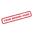 Your Design Here Rubber Stamp vector image vector image
