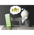 Faceless businessman not accepted vector image