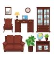 Home office furniture set vector image