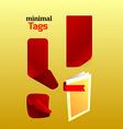 mini tags vector image