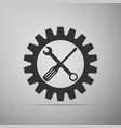 service tool icon screwdriver spanner cogwheel vector image