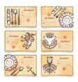 Vintage Menu Set With Cutlery Images vector image