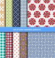 Colored patterns collection for seamless vector image