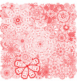 Different doodle flowers vector image