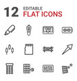 12 panel icons vector image vector image