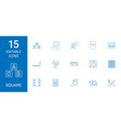 15 square icons vector image vector image