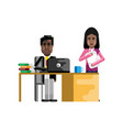 african businessman working in office vector image vector image
